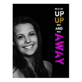 Up Up & Away Graduation Invitation Postcard