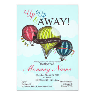 Up Up & Away Hot Air Balloon Invitation