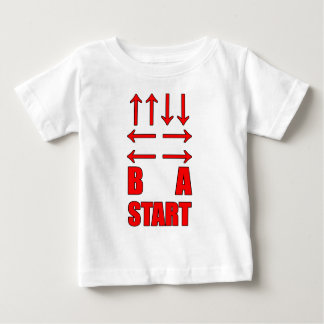 Up Up Down Down Left Right Left Right B A Start Baby T-Shirt