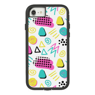 Upbeat Abstract in Turquoise Pink Yellow Case-Mate Tough Extreme iPhone 8/7 Case