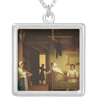 Upbringing, 1867 silver plated necklace