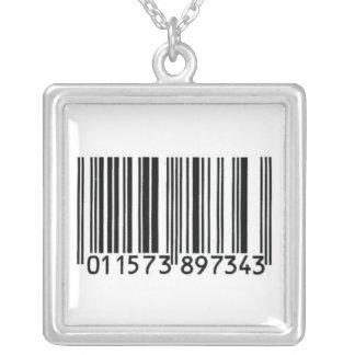 """UPC Code"" Pendant Necklace"