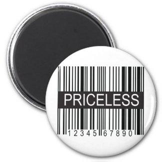 upc Code Priceless 6 Cm Round Magnet