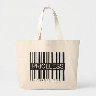upc Code Priceless Jumbo Tote Bag
