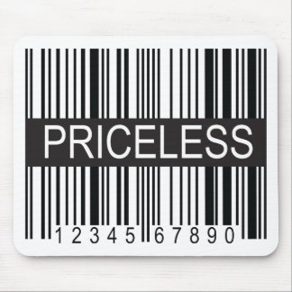 upc Code Priceless Mouse Pads