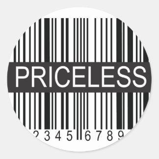 upc Code Priceless Round Sticker
