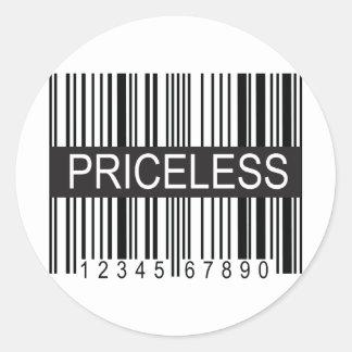 upc Code Priceless Round Stickers