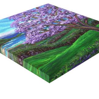 Upcountry Jacaranda Stretched Canvas Print