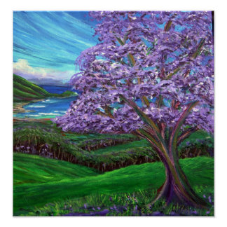 upcountry-jacaranda-trees poster