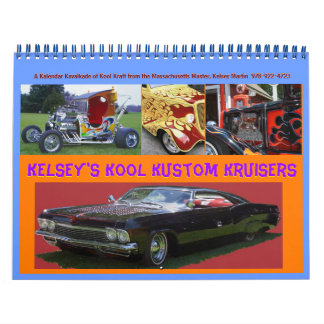 Update- Kelsey's Kool Kustom Kruisers  2012 Calend Calendars