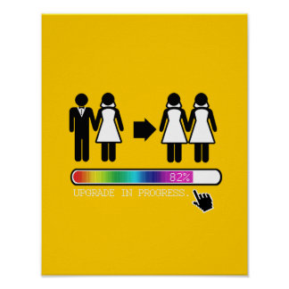 UPGRADE TO LESBIAN POSTER