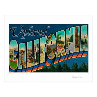 Upland, California - Large Letter Scenes Postcard