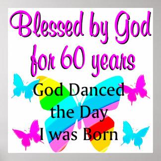 UPLIFTING 60TH BIRTHDAY POSTER