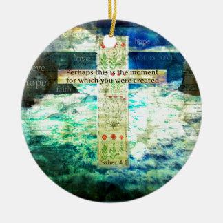 Uplifting Inspirational Bible Verse About Life Christmas Ornament