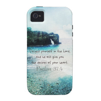 Uplifting Inspirational Bible Verse Psalm 37:4 iPhone 4/4S Covers