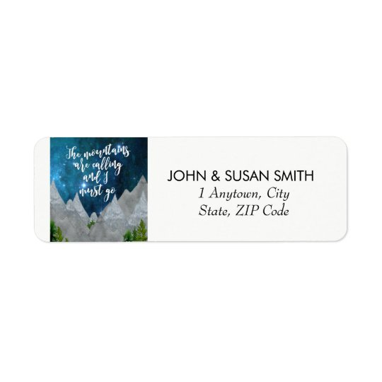 uplifting quote mountains return address labels