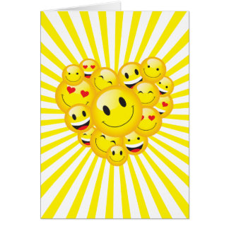 Uplifting Sunshine Yellow Positive Happy Vibes Card