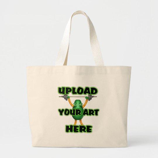 Upload art on custom zazzle tote bags by  Valxart