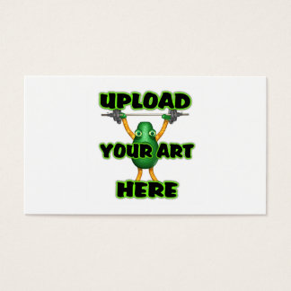 Upload art to 2 side indestructible business card
