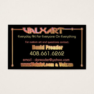 Upload art to 2 side Valxart business card