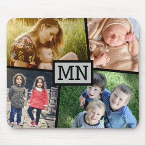 Upload photo monogrammed mouse mat