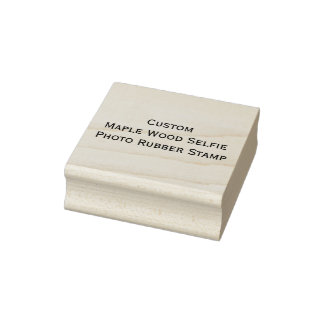 Upload Photo Selfie and Create Wood Rubber Stamp
