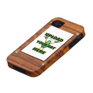 upload to wood illusion border frame Case-Mate iPhone 4 cases