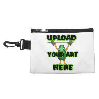 Upload your art customize clip on bag accessories bags