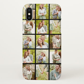 Upload Your Own Photos   Custom Photo Collage iPhone X Case