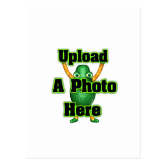 Upload your photo to template postcards