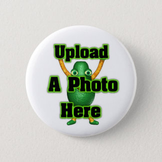 Upload your photo to template products 6 cm round badge