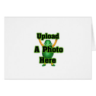 Upload your photo to template products greeting card
