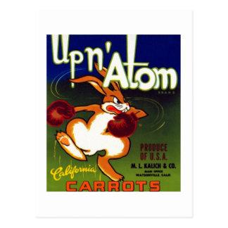 Upn Atom Carrots Postcard
