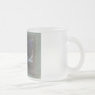 up'n'down time frosted glass mug
