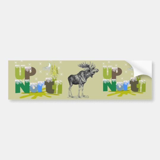 UpNorth Vintage Moose Bumper Sticker