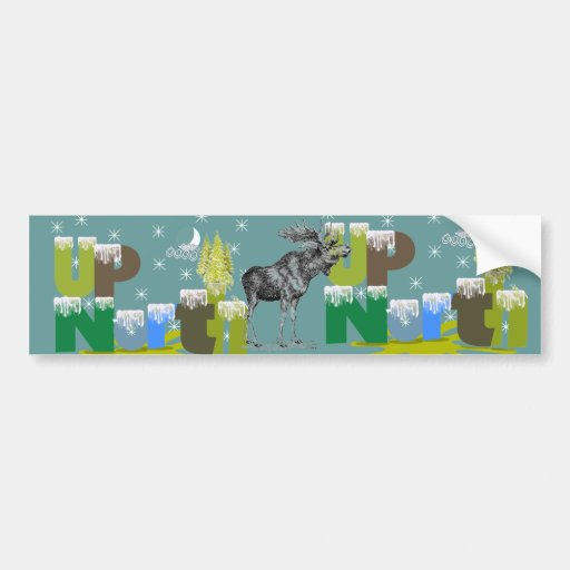 UpNorth Vintage Moose Bumper Stickers