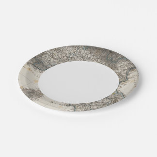 Upper and Central Italy 7 Inch Paper Plate