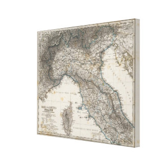 Upper and Central Italy Canvas Print