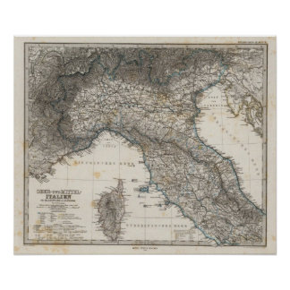 Upper and Central Italy Poster