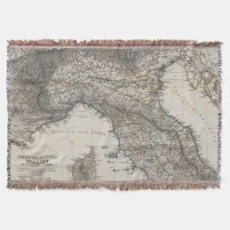 Upper and Central Italy Throw Blanket