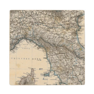 Upper and Central Italy Wood Coaster