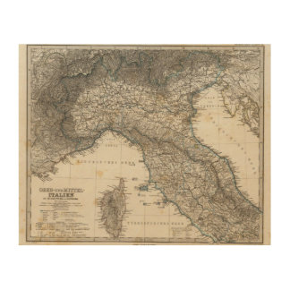 Upper and Central Italy Wood Print