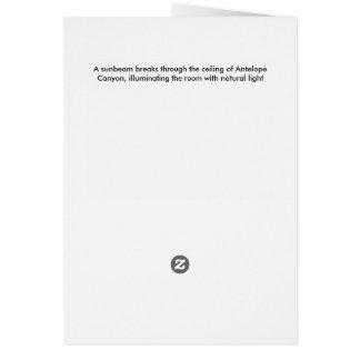 Upper Antelope Canyon light beam Card