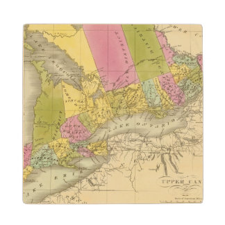Upper Canada 4 Wood Coaster