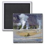 Upper Geyser Basin, Yellowstone National Park, U.S Square Magnet