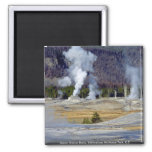 Upper Geyser Basin, Yellowstone National Park, U.S Square Magnet