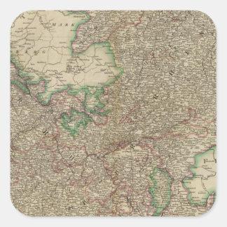 Upper, Lower Rhine circles Square Sticker