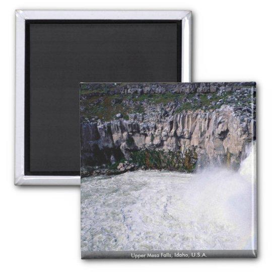 Upper Mesa Falls, Idaho, U.S.A. Square Magnet