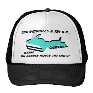 UPPER MICHIGAN morphs into SNOWMOBILE ~ HAT!