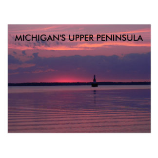 Upper Michigan Sunrise Postcard